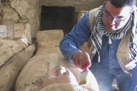 Погребальный храм и саркофаги: новые находки в Египте