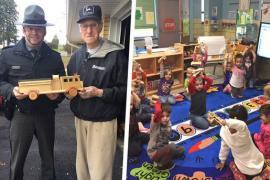 94-летний дедушка нашёл способ вызвать улыбки детей