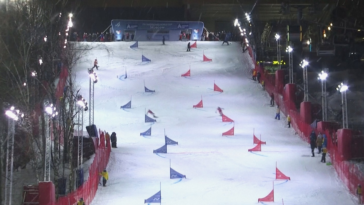 Кубок мира по сноуборду: в Москве соревновались в параллельном слаломе
