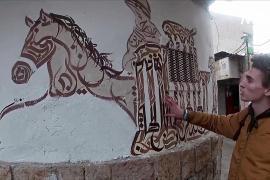 Сирийский художник украшает каллиграфией дома и интерьеры ресторанов
