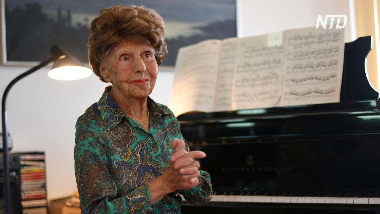 106-летняя пианистка: «Мои пальцы не могут без клавиш»