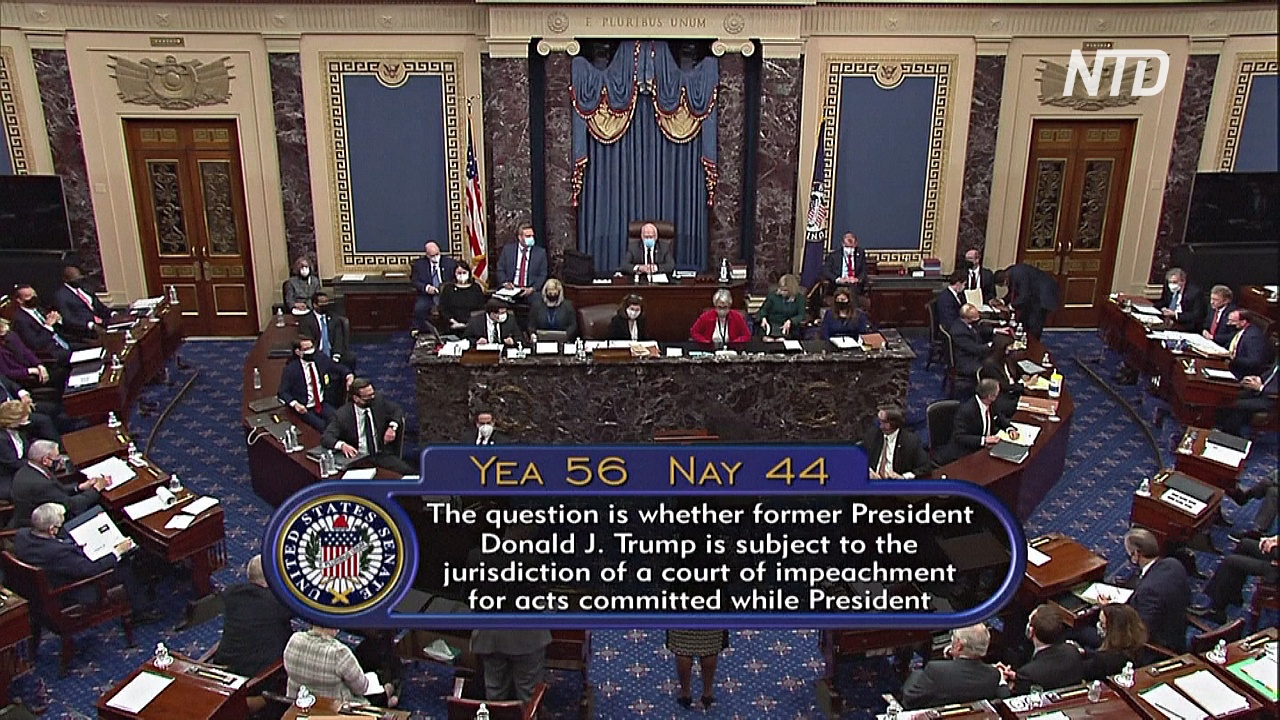 Сенат США проголосовал за процесс импичмента экс-президента Трампа