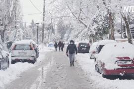В Греции прошёл сильнейший за 12 лет снегопад