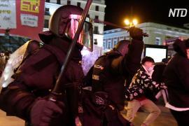 В Барселоне погромы и беспорядки из-за заключённого в тюрьму рэппера