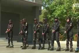 Пакистанские полицейские встают на ролики для борьбы с уличной преступностью