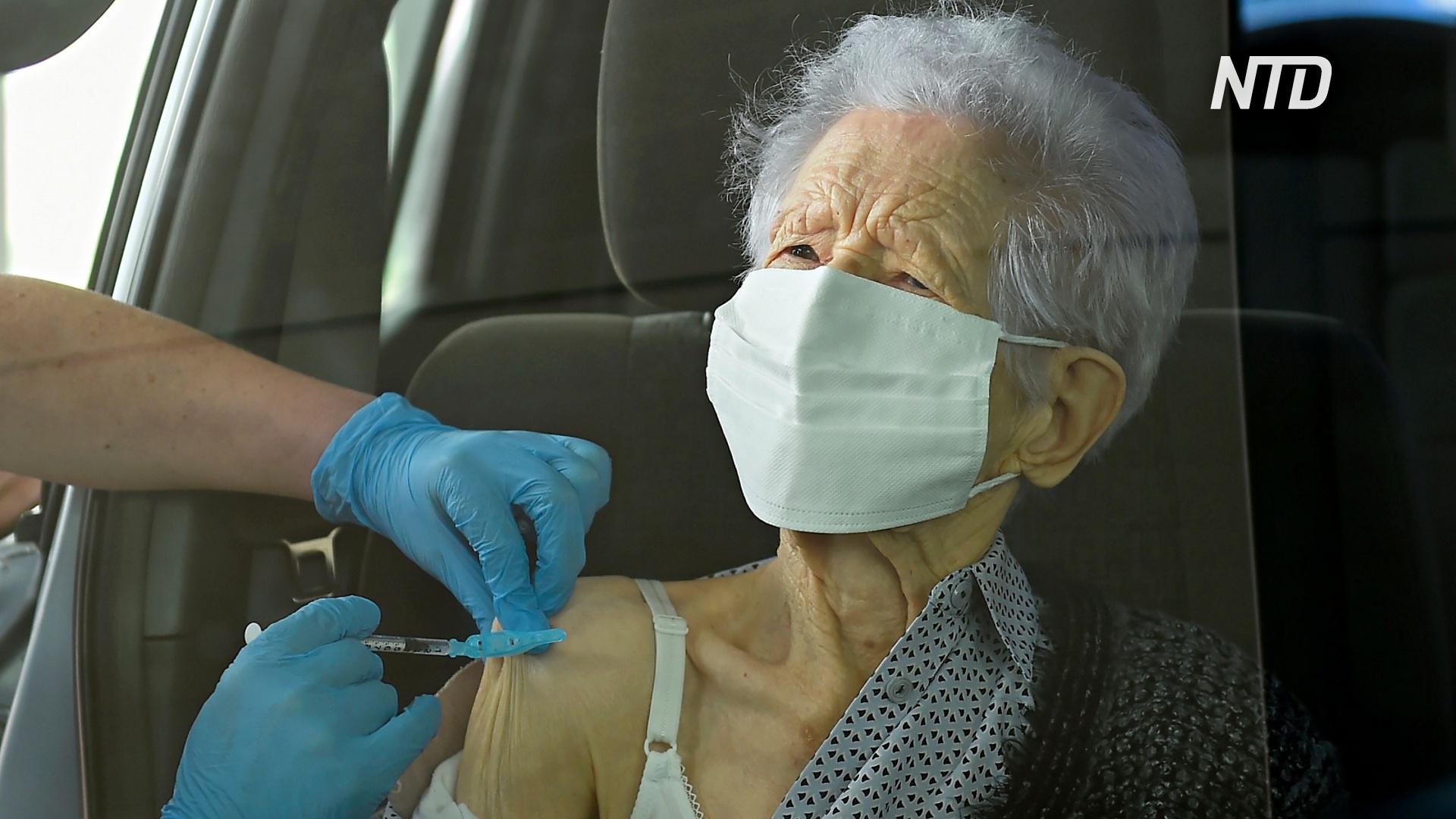Испанцы старше 100 лет могут вакцинироваться от коронавируса не выходя из машины
