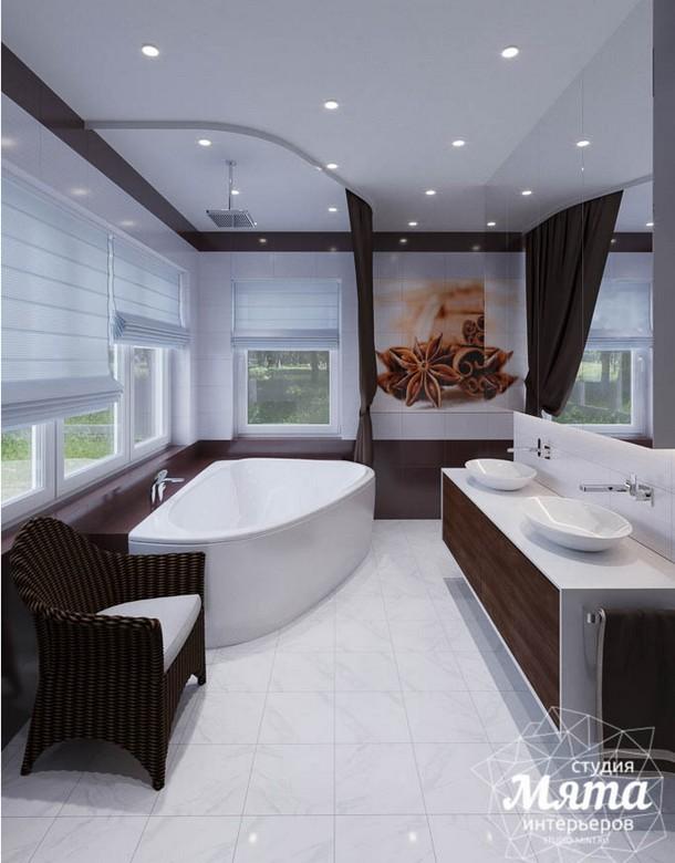 Дизайн интерьера ванной комнаты для коттеджа в г. Салехард