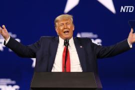 Трамп выступил с первой речью после ухода с поста президента