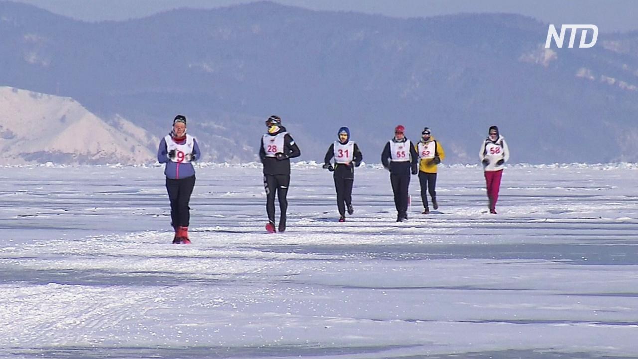 В Байкальском ледовом марафоне победил российский экс-футболист Алексей Смертин