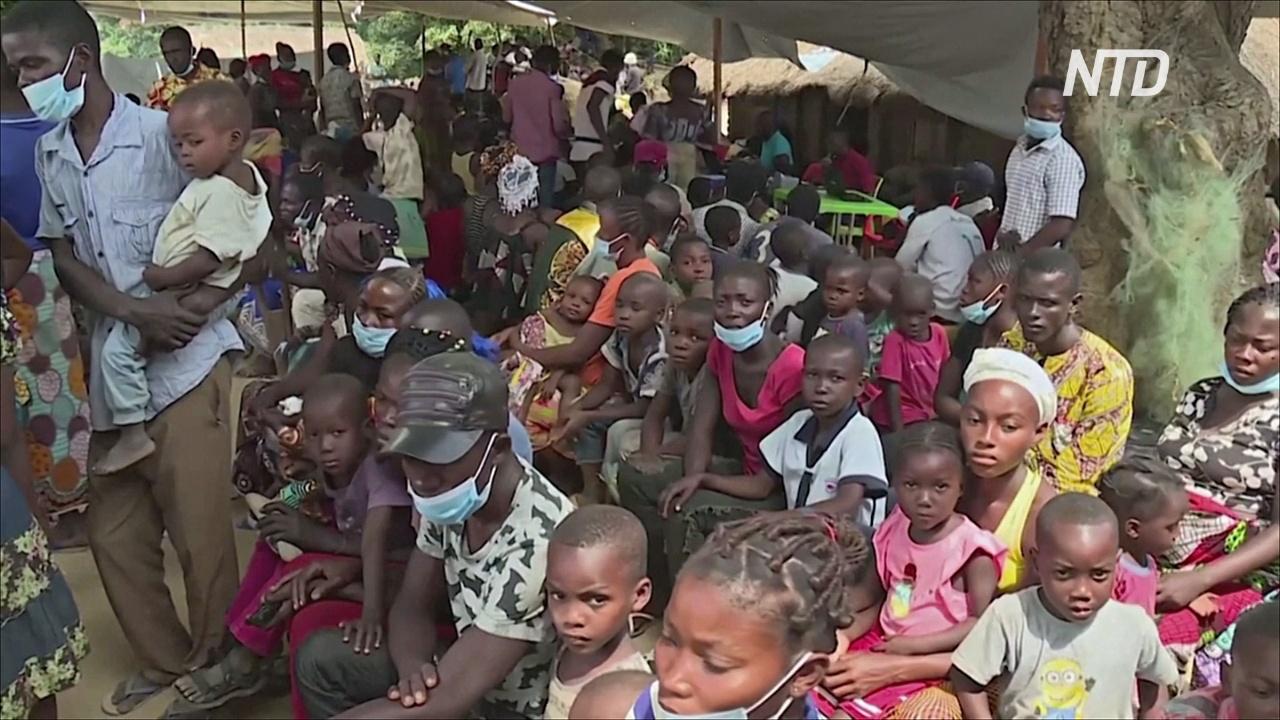 Беженцы из ЦАР живут под открытым небом в ДР Конго