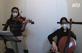 Франкфуртский симфонический оркестр даёт концерты на лестничных площадках