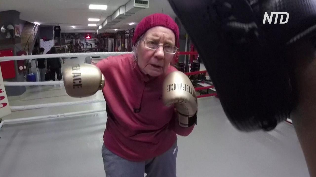 В Турции бабушка занялась боксом, чтобы нокаутировать болезнь Паркинсона