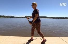 Австралийцы увлеклись скандинавской ходьбой