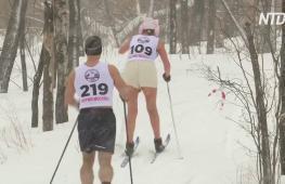 Российские моржи выступили на соревнованиях по зимнему многоборью в Москве