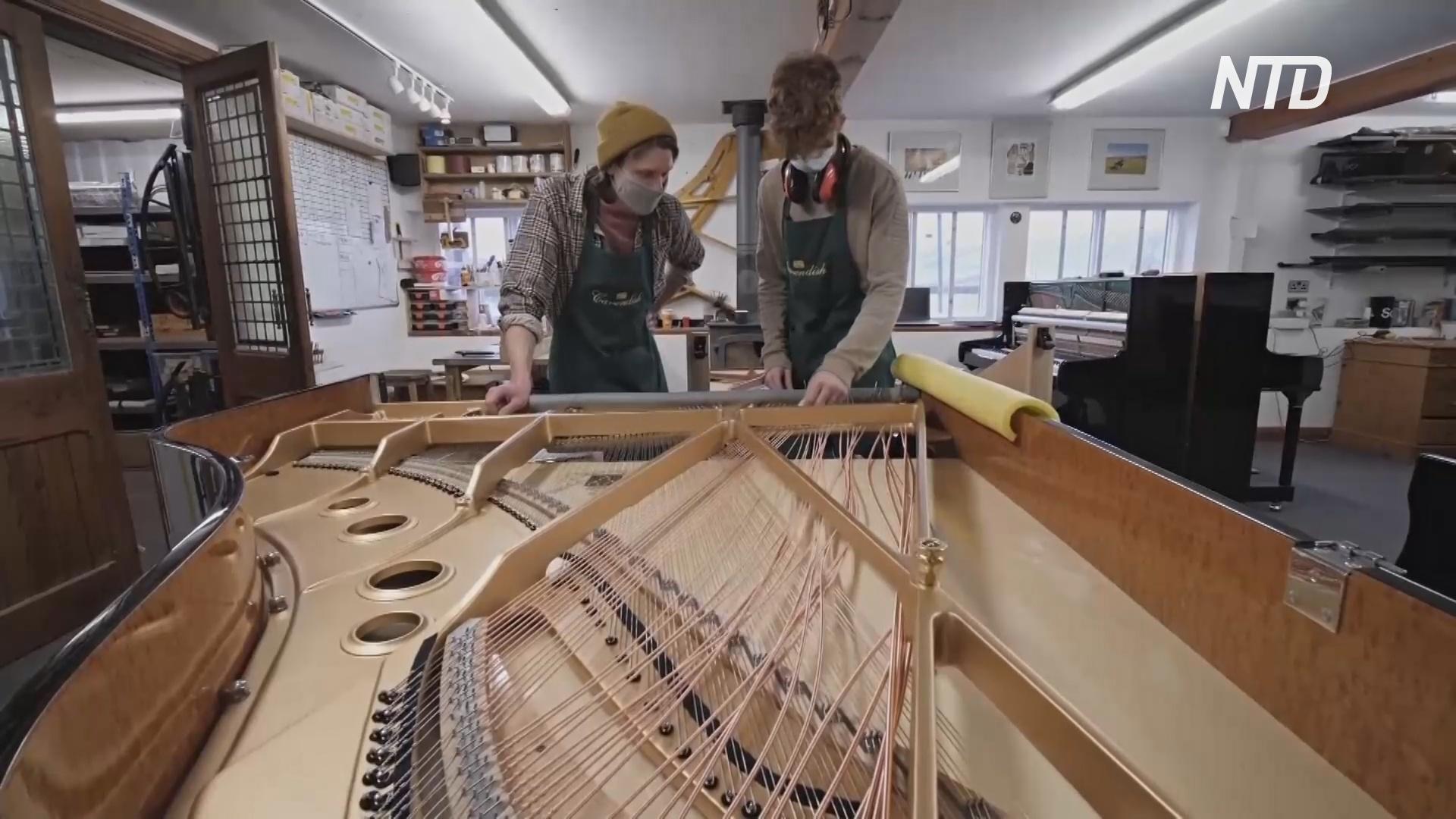 Традиционное мастерство производство пианино оживает благодаря карантину