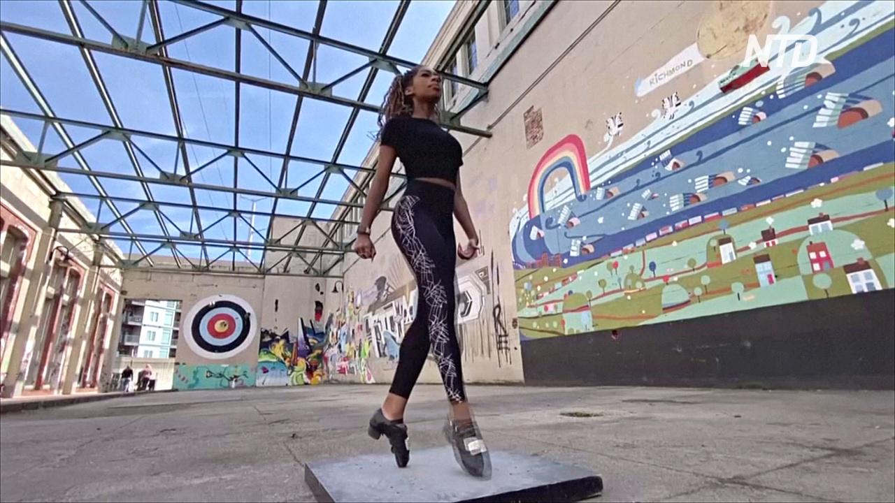 Афроамериканка с её ирландскими танцами стала звездой интернета