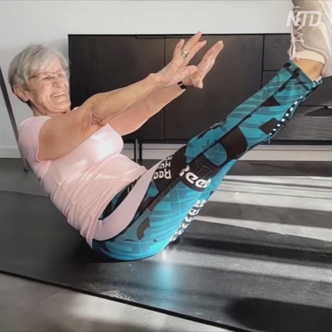 81-летняя фитнес-бабушка зажигает на TikTok
