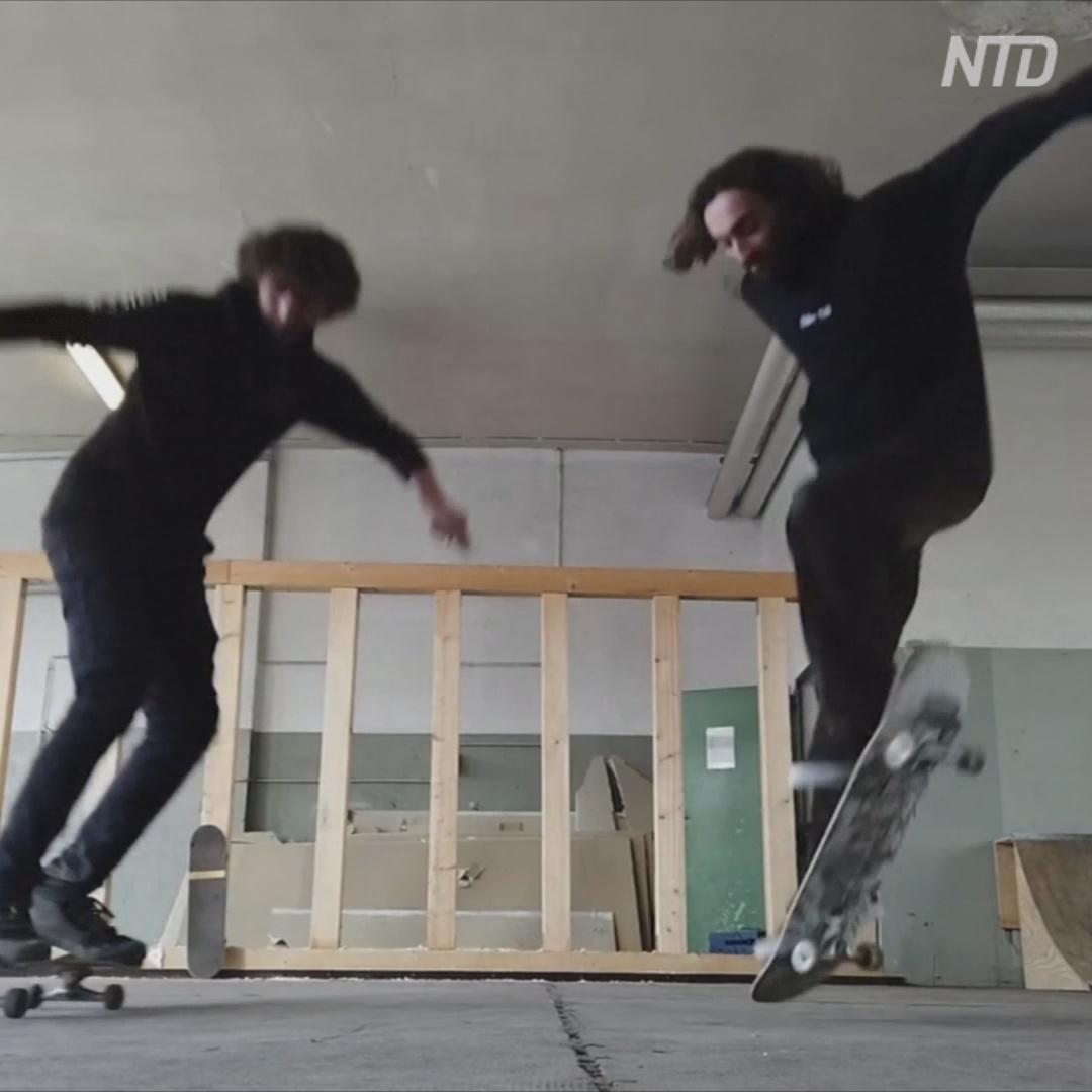 Два скейтбордиста готовятся к Олимпиаде и собирают деньги на зал для тренировок