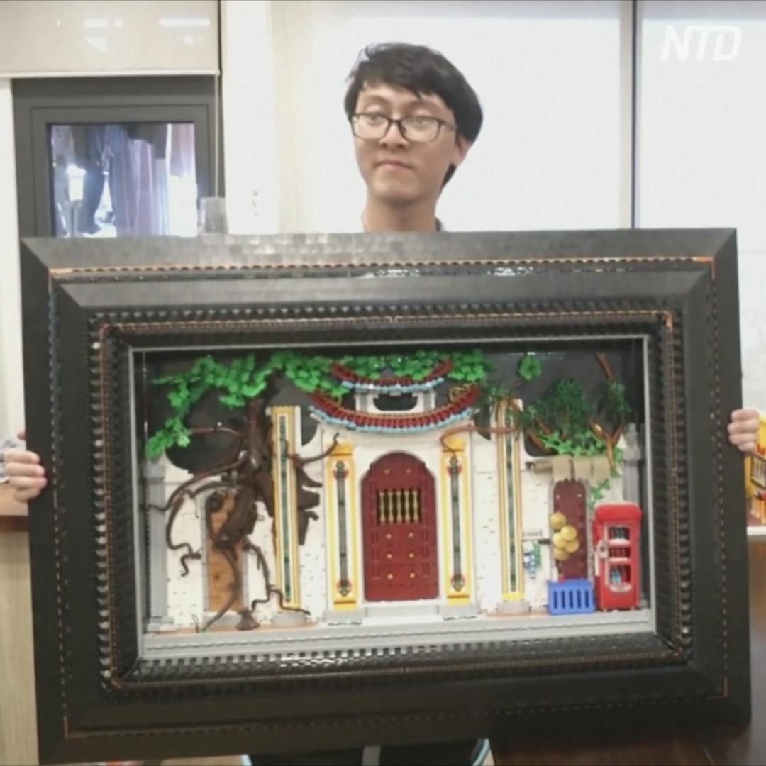 Вьетнамские любители конструктора Lego строят улицы своих городов