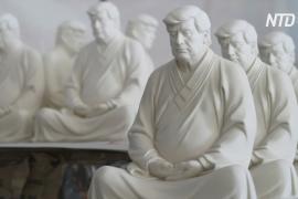 Создатель статуи Трампа в позе лотоса надеется, что экс-президент начнёт медитировать