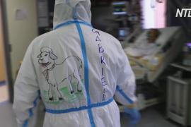 Итальянские медики привнесли пасхальную атмосферу в палаты с пациентами с COVID