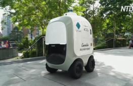 В Сингапуре роботы-курьеры доставляют продукты из супермаркета