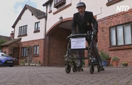 89-летний британский ветеран катается на роликах, чтобы собрать деньги для детей