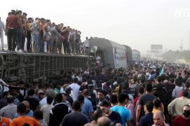Поезд сошёл с рельсов в Египте: более десяти погибших