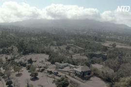 Вулкан Суфриер на карибском остров Сент-Винсент продолжает извергаться