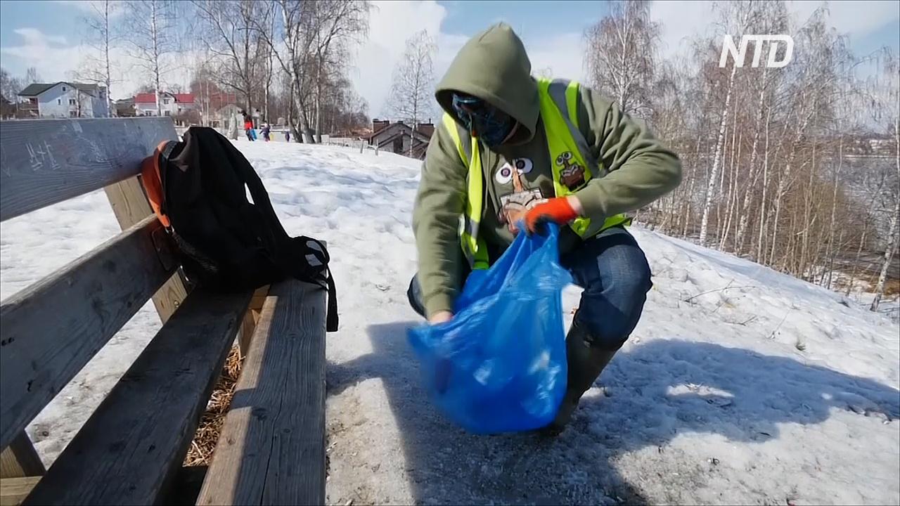 Мусорщик в маске: волонтёр вдохновляет костромичей очищать город от отходов