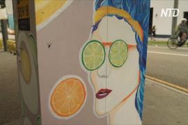 В Брисбене светофорные шкафы превращают в произведения искусства