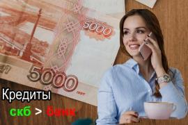 Выгодный кредит для частного лица — СКБ-банк