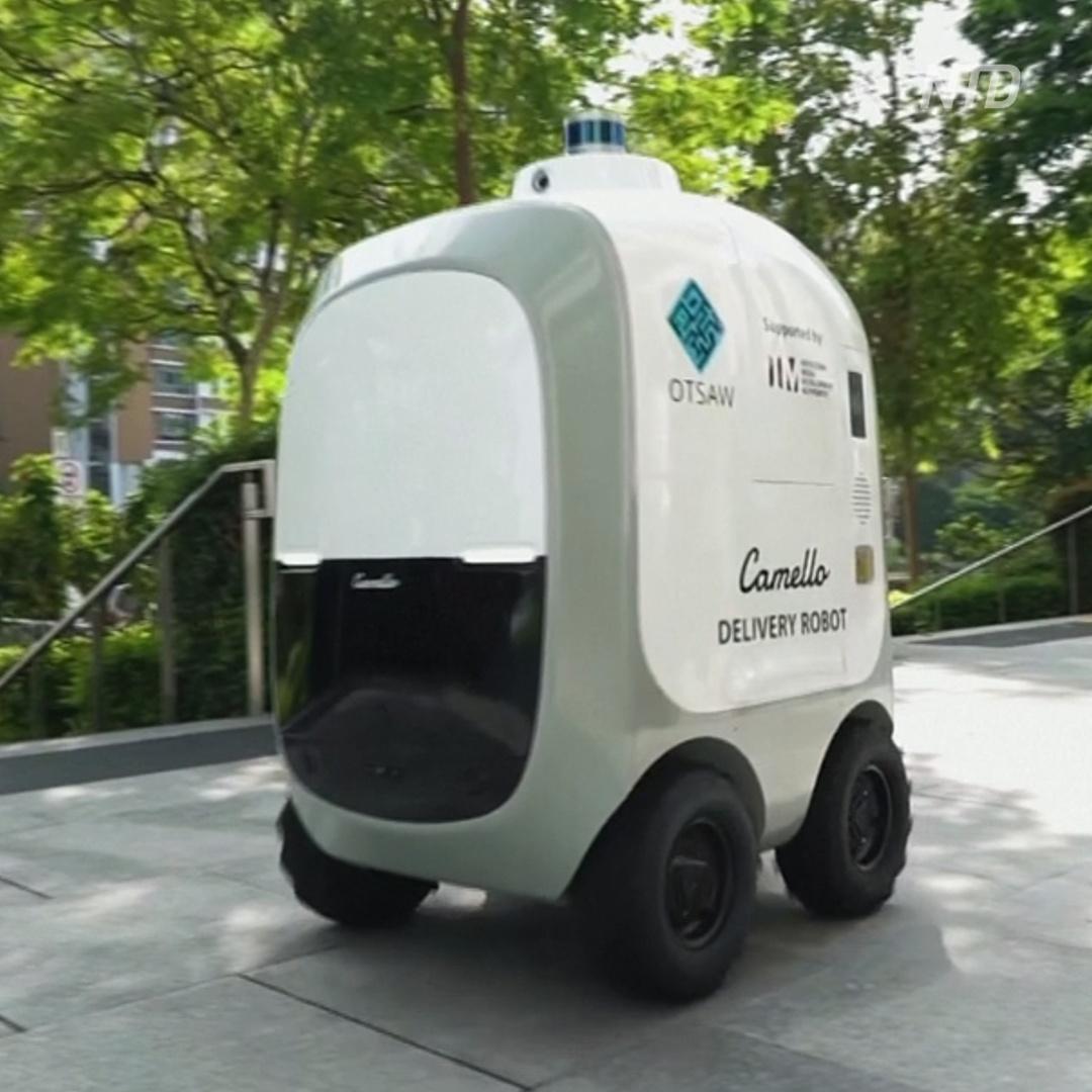 Как роботы-курьеры доставляют товары сингапурцам