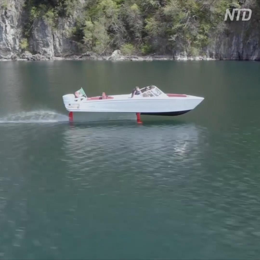 Электрокатер на подводных крыльях испытывают в Италии