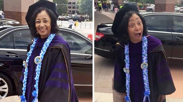 Как дети поздравили 64-летнюю маму с получением диплома