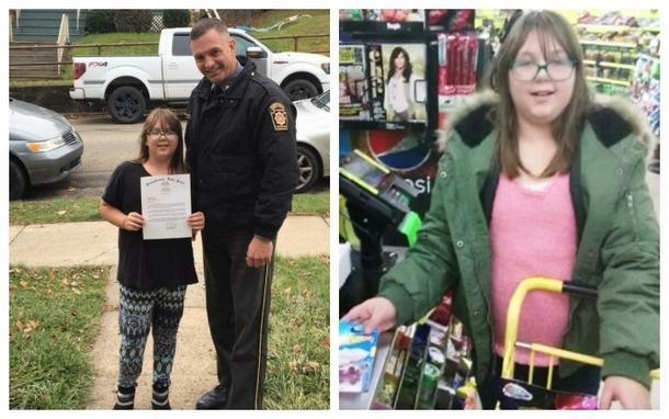 Как девочка и полицейский обменялись благодарностями