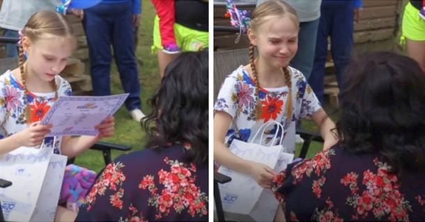 Какой подарок получила девочка от приёмной матери в день рождения