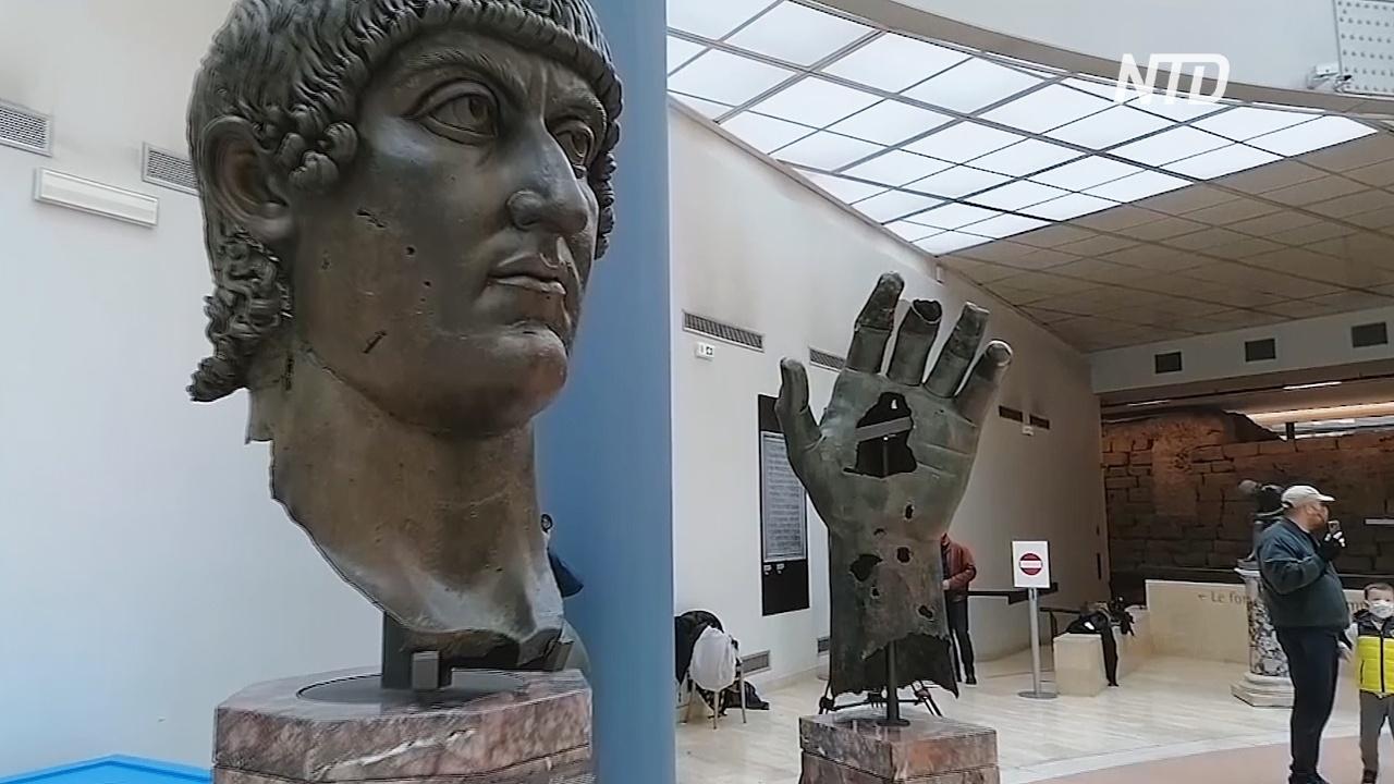 Кисть статуи римского императора воссоединилась с пальцем, потерянным 550 лет назад