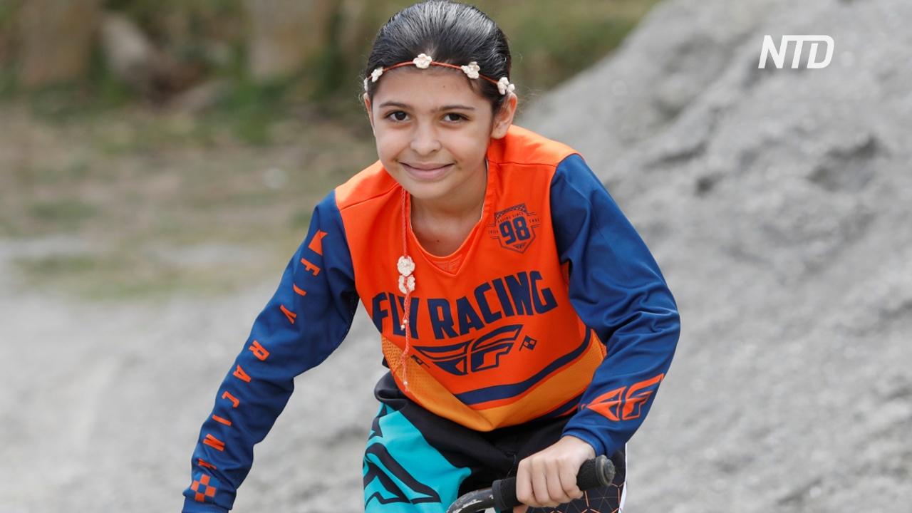 8-летняя венесуэлка мечтает участвовать в веломотокроссе на Олимпиаде-2032
