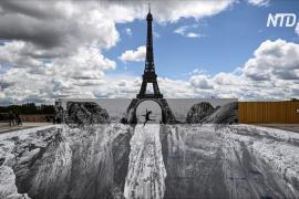 Оптическая иллюзия: Эйфелева башня в Париже теперь стоит на двух скалах
