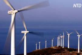 Жители греческого острова Эвбея выступают против гигантских ветряных турбин