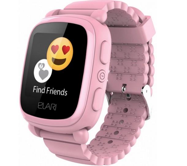 Детские часы Elari KidPhone 2 с GPS трекером Pink