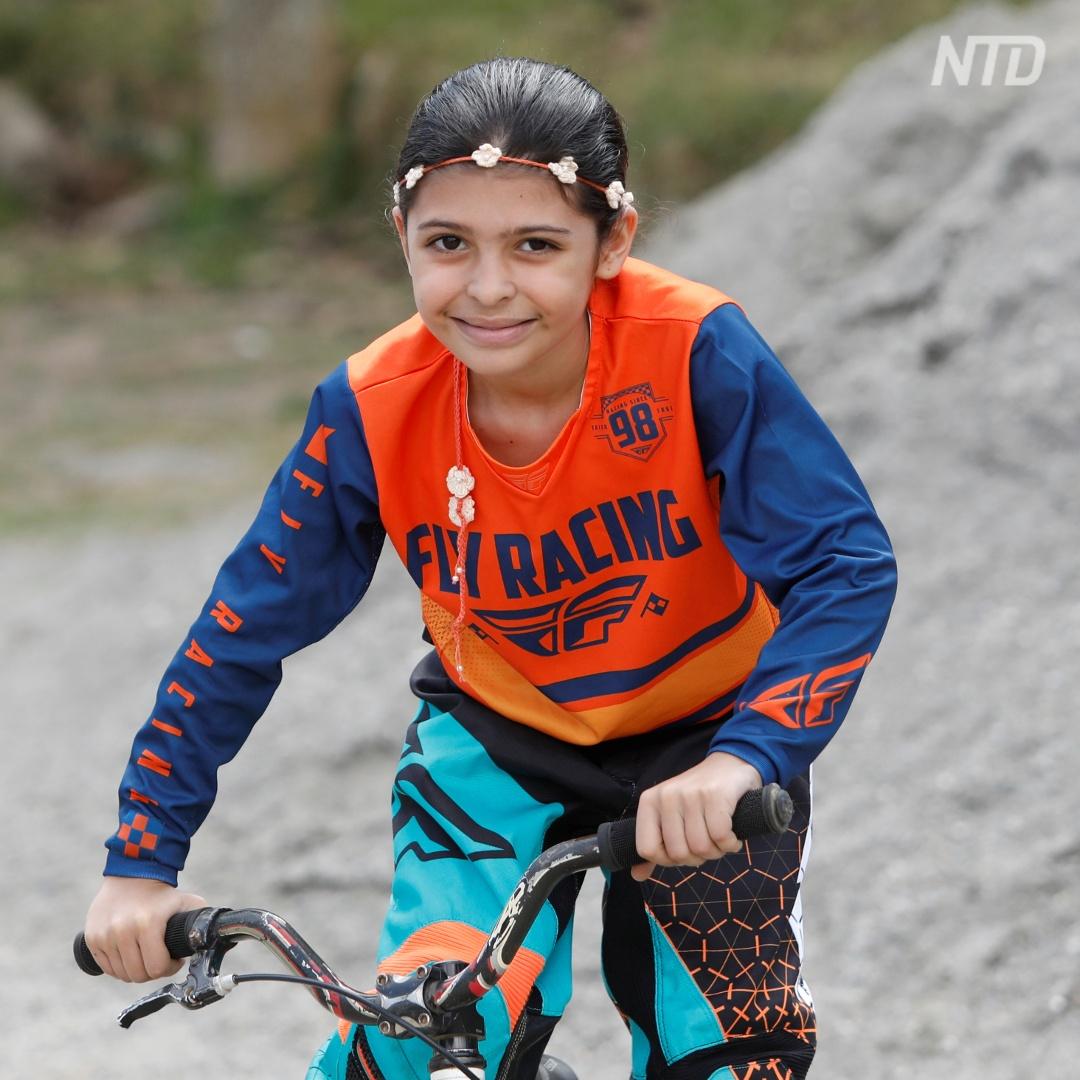 8-летняя велогонщица начала готовиться к Олимпиаде
