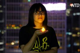 Гонконгскую активистку выпустили под залог после ареста в вечер памяти 4-го июня