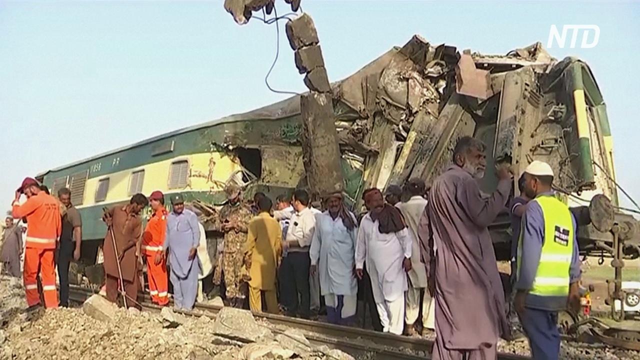 Очевидец – о ж/д-аварии в Пакистане: «Они кричали, чтобы их вытащили»