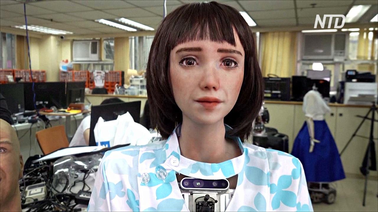 Робот-медсестра Грейс, похожая на героя аниме: новая разработка в Гонконге