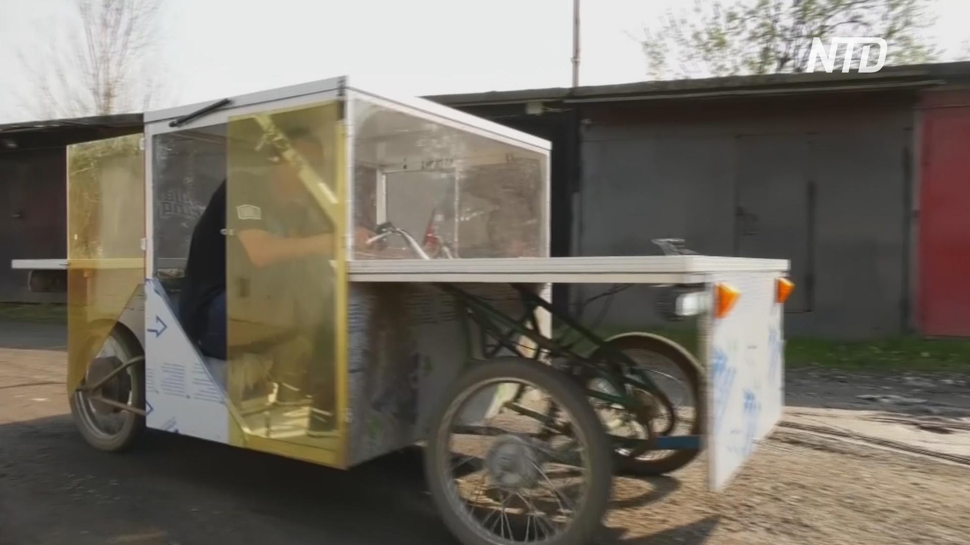 В Петербурге инженер-самоучка построил солнцемобиль и собирается в путешествие