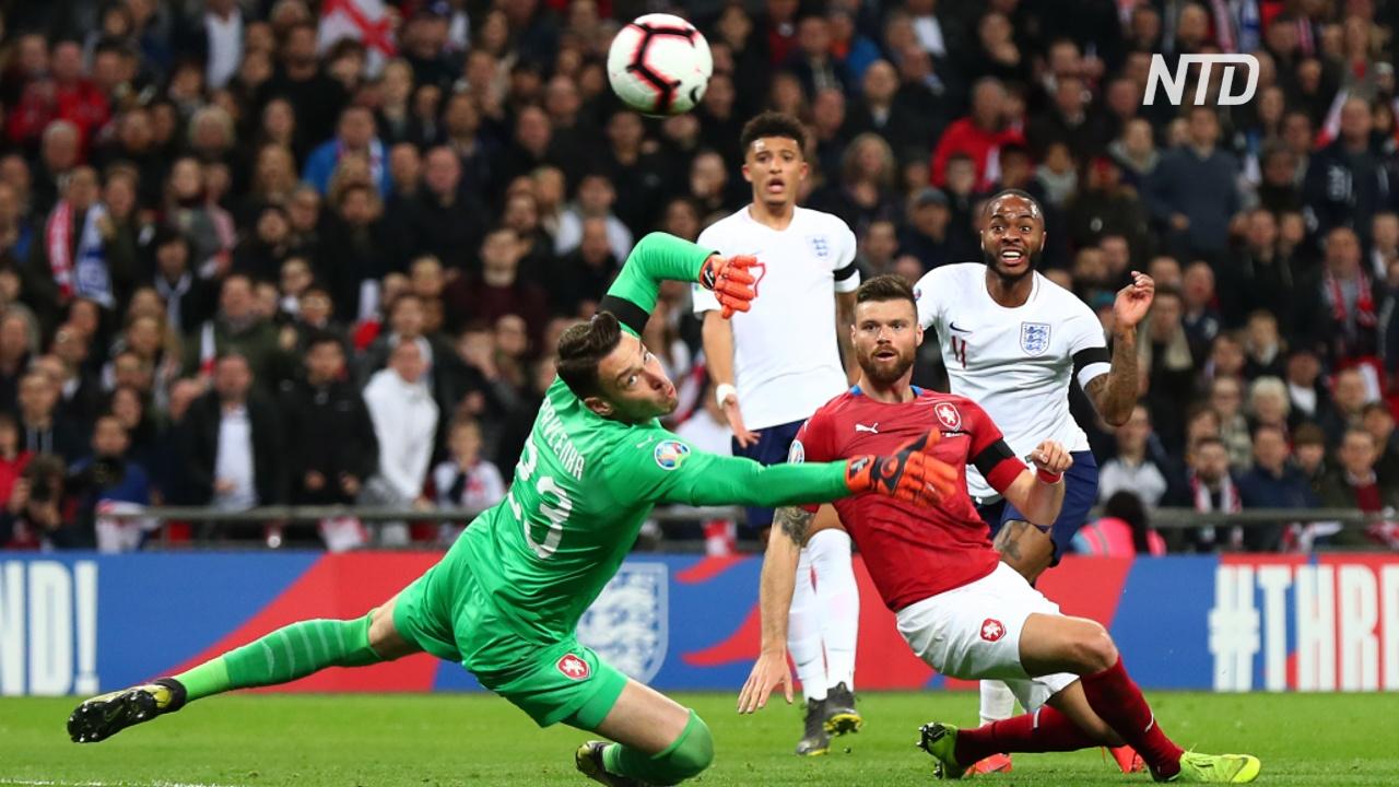 Сборная Англии победила чехов, и обе команды выходят в плей-офф