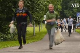 Тренировка с пользой для природы: москвичи бегают трусцой и собирают мусор