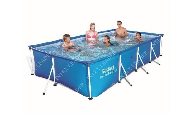 Каркасный бассейн прямоугольный BestWay, 400х211х81см